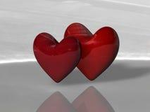 καρδιές δύο Στοκ Εικόνα