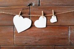 Καρδιές εγγράφου στοκ εικόνες με δικαίωμα ελεύθερης χρήσης