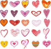καρδιές καθιερώνουσες Στοκ Εικόνες