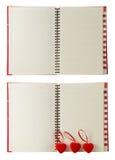 Καρδιές και ημερολόγιο Στοκ εικόνες με δικαίωμα ελεύθερης χρήσης