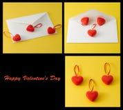 Καρδιές και letterbox Στοκ Εικόνες