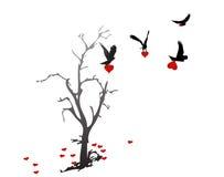 καρδιές καρδιών αετών που το δέντρο Στοκ Φωτογραφία