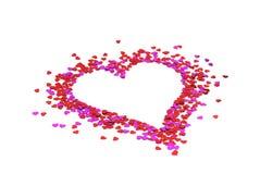 καρδιές καρδιών λίγα κόκκ&iot Στοκ εικόνα με δικαίωμα ελεύθερης χρήσης