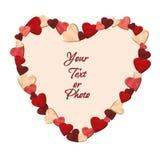 καρδιές καρδιών πλαισίων π& Στοκ Εικόνες
