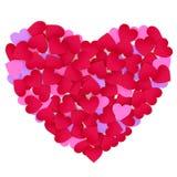 καρδιές καρδιών χρώματος που γίνονται το έγγραφο Στοκ φωτογραφία με δικαίωμα ελεύθερης χρήσης