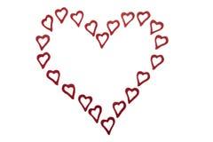 καρδιές καρδιών Στοκ φωτογραφίες με δικαίωμα ελεύθερης χρήσης