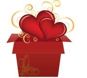 καρδιές κιβωτίων Στοκ εικόνα με δικαίωμα ελεύθερης χρήσης