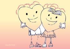 καρδιές κινούμενων σχεδί&om ελεύθερη απεικόνιση δικαιώματος
