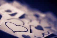 καρδιές κολλώδεις Στοκ φωτογραφία με δικαίωμα ελεύθερης χρήσης