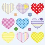 καρδιές κουμπιών που τίθενται Στοκ Φωτογραφία