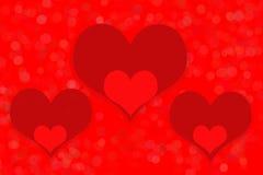 Καρδιές, κόκκινη ανασκόπηση Στοκ εικόνα με δικαίωμα ελεύθερης χρήσης