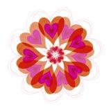 καρδιές λουλουδιών άνθ&iota διανυσματική απεικόνιση