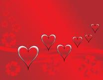 καρδιές λουλουδιών Στοκ φωτογραφίες με δικαίωμα ελεύθερης χρήσης
