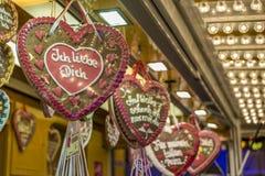 Καρδιές μελοψωμάτων Στοκ φωτογραφία με δικαίωμα ελεύθερης χρήσης