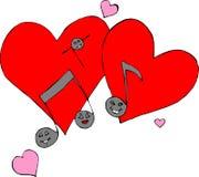 καρδιές μουσικές απεικόνιση αποθεμάτων