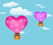 καρδιές μπαλονιών Στοκ Εικόνες