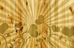 καρδιές ξύλινες ελεύθερη απεικόνιση δικαιώματος