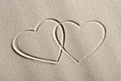 καρδιές παραλιών ανασκόπη&si Στοκ φωτογραφία με δικαίωμα ελεύθερης χρήσης