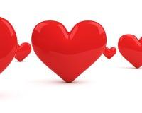 καρδιές πεδίων ανασκόπησης πέρα από το κόκκινο λευκό απεικόνιση αποθεμάτων