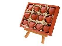 καρδιές πλαισίων ξύλινες Στοκ Εικόνες