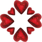 καρδιές πλαισίων που απο Στοκ Εικόνα
