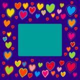 καρδιές πλαισίων που χρω&mu Στοκ φωτογραφίες με δικαίωμα ελεύθερης χρήσης
