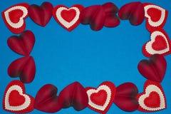 καρδιές πλαισίων Στοκ φωτογραφίες με δικαίωμα ελεύθερης χρήσης