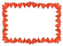 καρδιές πλαισίων Στοκ εικόνα με δικαίωμα ελεύθερης χρήσης