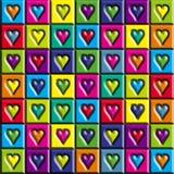 καρδιές πολύχρωμες Στοκ Εικόνες