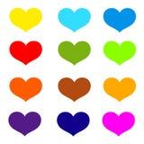 Καρδιές Πολύχρωμο διανυσματικό εικονίδιο στοκ εικόνες με δικαίωμα ελεύθερης χρήσης