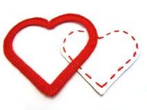 καρδιές που αγαπούν δύο Στοκ φωτογραφίες με δικαίωμα ελεύθερης χρήσης