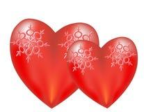 καρδιές που αγαπούν δύο Στοκ Εικόνες