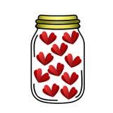 Καρδιές που κλείνουν στο μπουκάλι Στοκ φωτογραφία με δικαίωμα ελεύθερης χρήσης