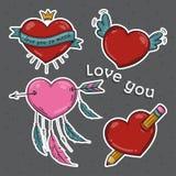 καρδιές που τίθενται αγάπη εσείς σύμβολα Στοκ Εικόνες