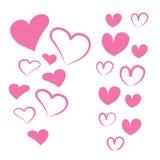 Καρδιές που τίθενται για τις διακοπές καρδιές που τίθενται για το σχέδιο ελεύθερη απεικόνιση δικαιώματος