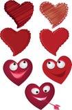καρδιές που τίθενται Στοκ φωτογραφία με δικαίωμα ελεύθερης χρήσης