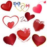 καρδιές που τίθενται Στοκ Φωτογραφία