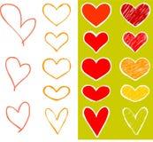 καρδιές που τίθενται Στοκ Εικόνες