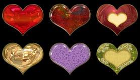 καρδιές που τίθενται Στοκ εικόνες με δικαίωμα ελεύθερης χρήσης