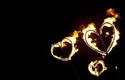 καρδιές πυρκαγιάς στοκ εικόνες με δικαίωμα ελεύθερης χρήσης
