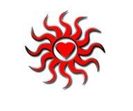 καρδιές πυρκαγιάς απεικόνιση αποθεμάτων