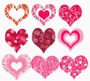 καρδιές ρομαντικές Στοκ εικόνα με δικαίωμα ελεύθερης χρήσης