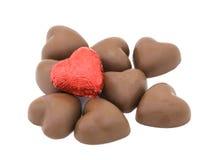 καρδιές σοκολάτας Στοκ φωτογραφία με δικαίωμα ελεύθερης χρήσης