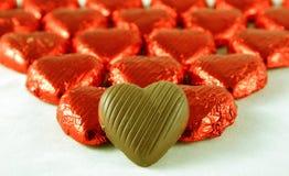 καρδιές σοκολάτας Στοκ εικόνες με δικαίωμα ελεύθερης χρήσης