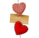 Καρδιές στη συμβολοσειρά στοκ εικόνες με δικαίωμα ελεύθερης χρήσης