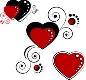 καρδιές στοιχείων σχεδίου απεικόνιση αποθεμάτων