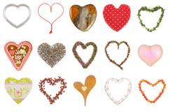 καρδιές συλλογής Στοκ Εικόνα