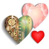 καρδιές τρία διανυσματική απεικόνιση