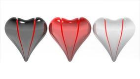 καρδιές τρία Στοκ εικόνα με δικαίωμα ελεύθερης χρήσης
