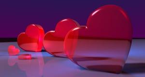 καρδιές τρία Στοκ φωτογραφία με δικαίωμα ελεύθερης χρήσης